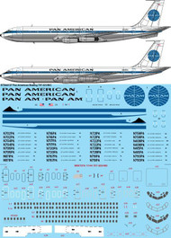 1/144 Scale Decal Pan Am delivery Boeing 707-321/B/C