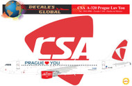 1/144 Scale Decal CSA A-320 Prague Luv You