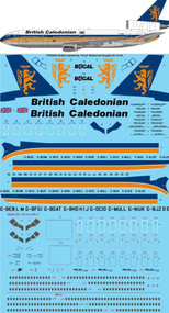 """1/144 Scale Decal British Caledonian """"Final"""" McDonnell Douglas DC-10-30"""