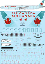 1/144 Scale Decal Air Canada Boeing 777-333ER