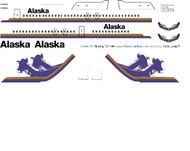 1/144 Scale Decal Alaska Air 727-100 Domes