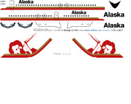 1/144 Scale Decal Alaska Air 727-100 Miner