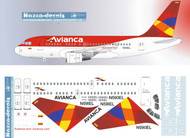 1/144 Scale Decal Avianca Colombia New A-318