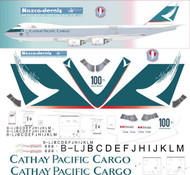 1/144 Scale Decal Cathay Pacific 747-8F