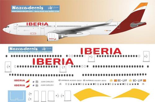 1/144 Scale Decal Iberia A330-300
