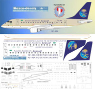 1/144 Scale Decal Saudia EMB 170