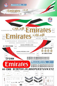 1/144 Scale Decal Emirates B777-200