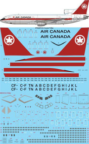 1/144 Scale Decal Air Canada Delivery Lockheed L1011 TriStar