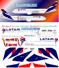 1/144 Scale Decal Latam 767-300