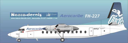 1/144 Scale Decal Aerocaribe FH-227