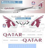 1/144 Scale Decal Qatar A330-300