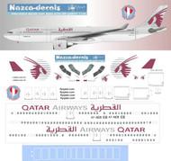 1/144 Scale Decal Qatar A330-300 Oldest