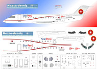 1/144 Scale Decal Star Peru CRJ 100 / 200
