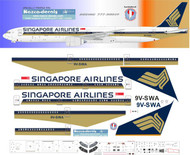 1/144 Scale Decal Singapore Airlines 777-300 Classic