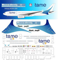 1/144 Scale Decal Tame A-330