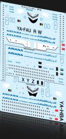 1/144 Scale Decal Ariana 727-200 / 720B