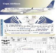 1/144 Scale Decal Copa / AeroRepublica  Emberair 190