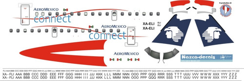 1/144 Scale Decal Aeromexico Connect ERJ-145