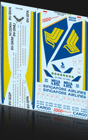 1/144 Scale Decal Singapore 747-400