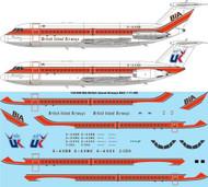1/144 Scale Decal BIA & Air UK BAC 1-11 400