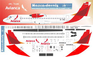 1/144 Scale Decal Avianaca ATR 72