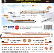 1/144 Scale DecalAeronaves de Mexico DC-91960
