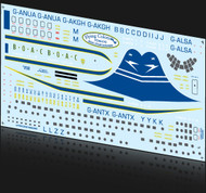 1/144 Scale Decal BOAC Stratocruiser