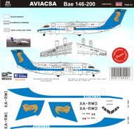 1/144 Scale Decal Aviacsa BAE146-200 90's