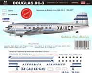 1/1441/72 1/48 Scale DecalAeronaves de Mexico DC-3Mid 40's