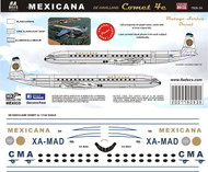 1/144 Scale Decal Mexicana Comet 4 60's