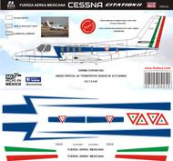 1/48 Scale DecalFuerza Aerea Mexicana Cessna Citation
