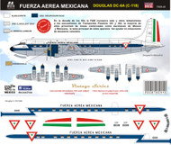 1/144 Scale Decal Fuerza Aerea Mexicana DC-6 / C-118 EATP
