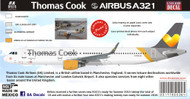 1/144 1/200 1/400 1/500 Scale Decal Thomas Cook A-321 2016