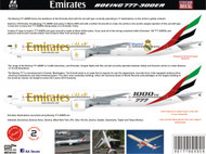 1/144 1/200 1/400 1/500 Scale Decal Emirates 777-300ER