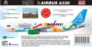 1/144 1/200 1/400 1/500 Scale Decal Airbus A320 Wizzair Olympics