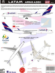 1/144 Scale Decal LATAM Airbus A-350