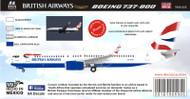 1/144 & 1/200 Scale Decal British Airways 737-800