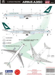 1/144 Scale Decal Cathay Pacific A-350 2016