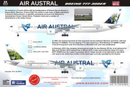 1/144 Scale Decal Boeing 777-300 Air Austral