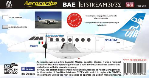 1/72 Scale Decal AEROCARIBE BAE JETSTREAM