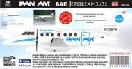 1/144 Scale Decal BAE JETSTREAM PAN AM