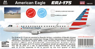 1/144 Scale Decal American ERJ-175