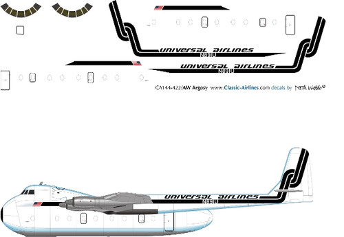 1/144 Scale Decal Universal Airlines AW Argosy