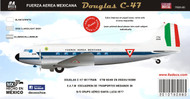 1/144 1/72 1/48 Scale Decal Fuerza Aerea Mexicana C-47 ETM