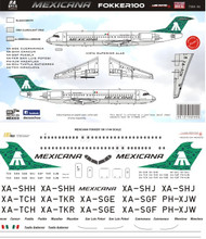 1/144 Scale Decal Mexicana F-100 Green Tail