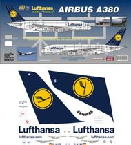 1/144 Scale Decal Lufthansa A-380
