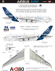 1/144 Scale Decal A-380 Love at First Flight