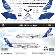1/144 Scale Decal A-320 Sharklet Jet