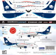 1/144 Scale Decal Aeromexico Connect EMB-170