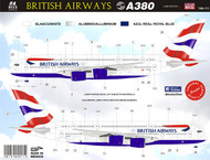 1/144 Scale Decal British Airways A-380